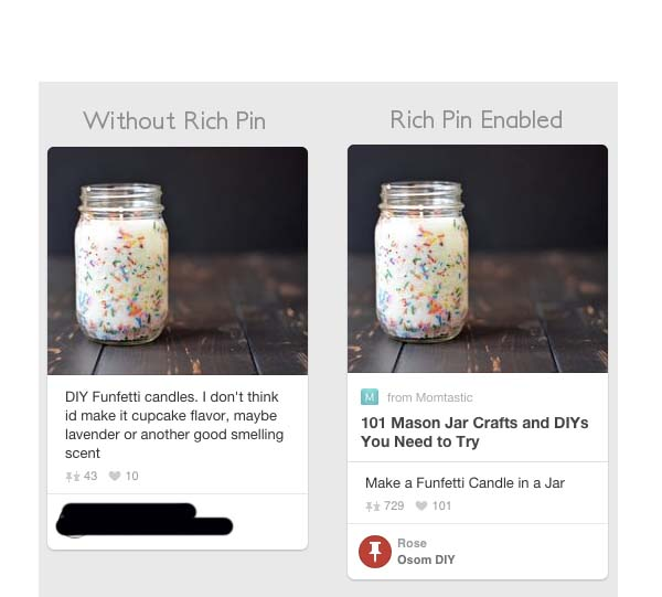 normal and rich pins