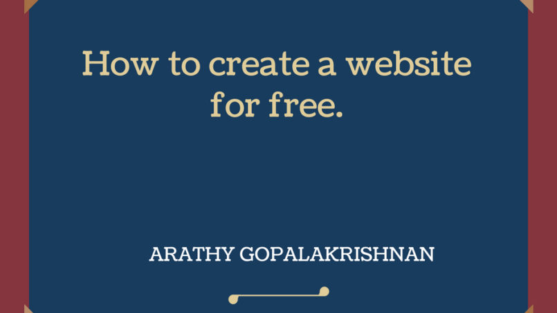 How to create a website for free.